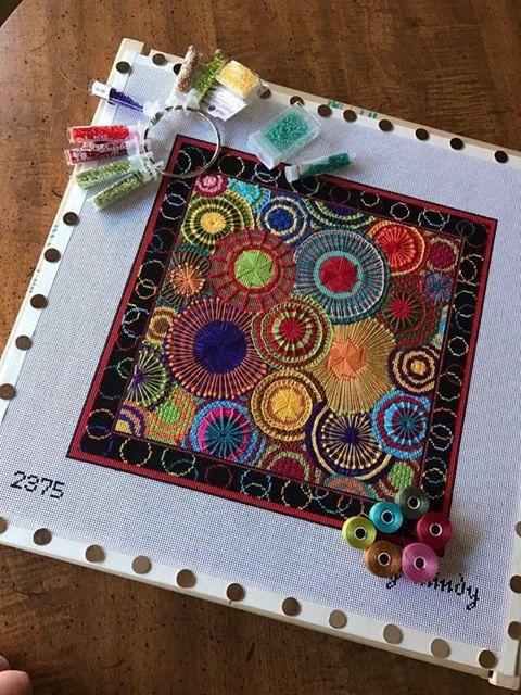 Mindy circles needlepoint