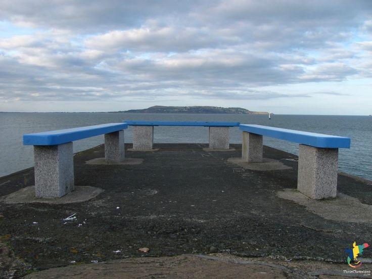 sea, ocean, Howth, Dublin, coast, island, bench, coastalphotos