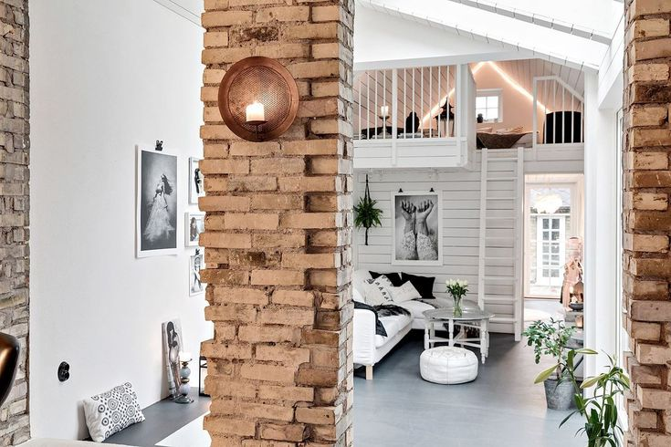 Scandinavian Living Space With Loft Area | LIVING ROOM   BLOG | Pinterest |  Scandinavian Living, Living Spaces And Lofts