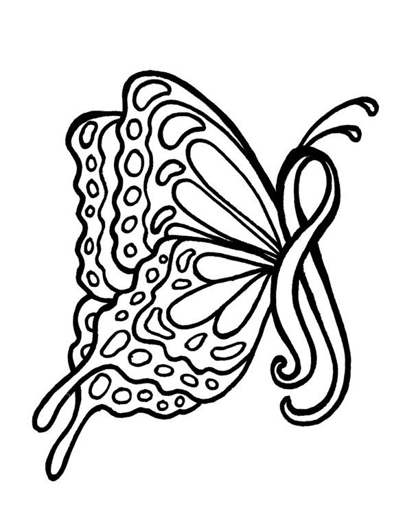 cool drawings for breast cancer breast cancer coloring pages butterfly