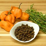 Jamaican Jerk Ingredients: Jerk Sauce Ingredients: Scotch Bonnet Chiles, Thyme, and Allspice