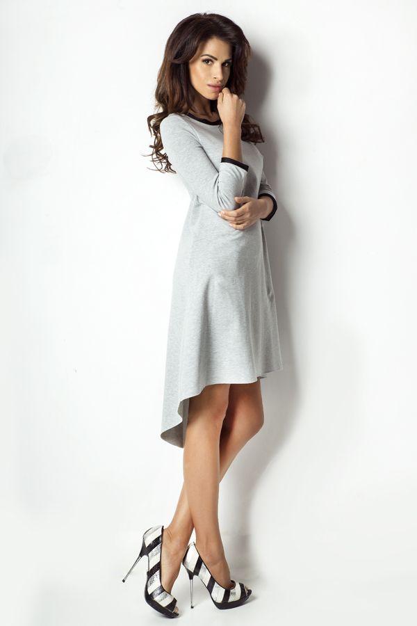 IVON Asymetryczna sukienka model D1 ivon-sklep.pl