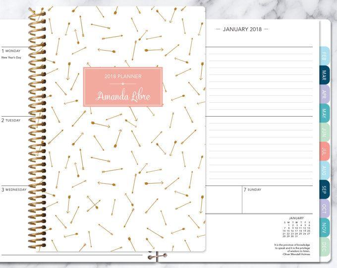 Utile Planner Diary Notebook Journal Agenda Scheduler papier mois Calendrier Ma