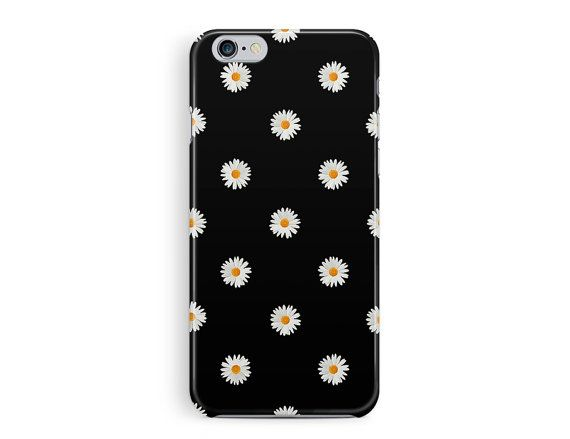 iPhone 6S case, Flower iPhone 6s case, Floral Phone case, Daisy iPhone 6S Case, Floral 6s Cover, Cute iPhone 6S case, Protective 6s Cover