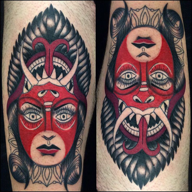Devil Girl neo traditional tattoo by Amanda Mariscal Instagram mexcellentme
