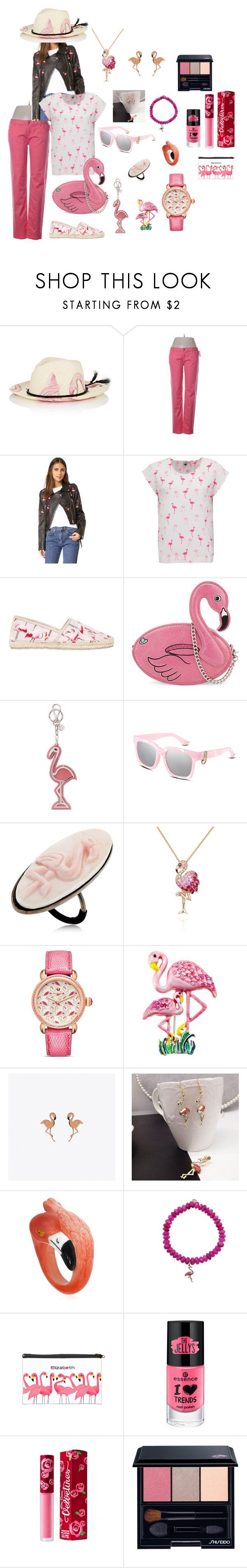 """""""Pink Flamingo"""" by michi-donaho on Polyvore featuring Ibo-Maraca, Celebrity Pink, JN by JN LLOVET, Mercy Delta, RED Valentino, Skinnydip, Miu Miu, Anna e Alex, Effy Jewelry and Michele"""