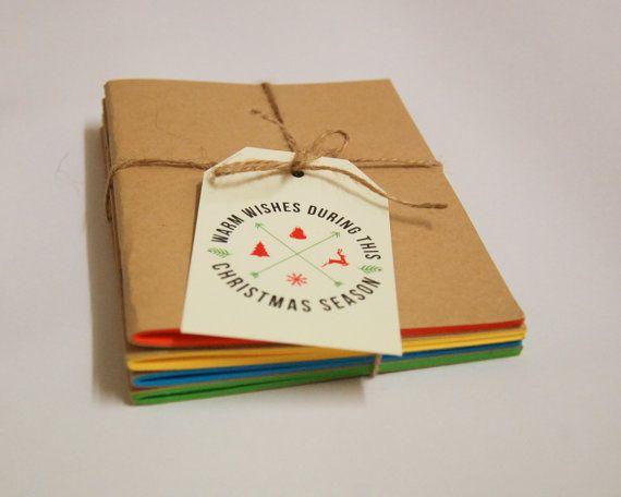 4-piece handmade notebook set  kraft notebook  by tiffokeeffo