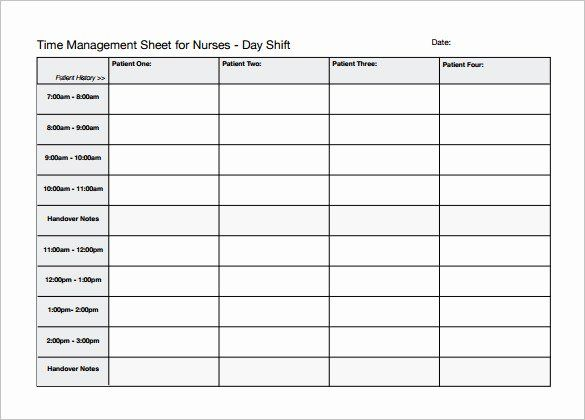 40 Time Management Schedule Template In 2020 Nurse Schedule