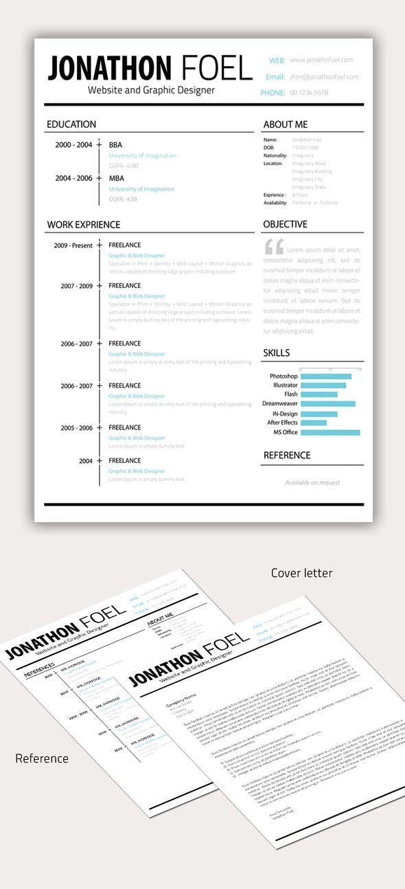 Resume Minimal PSD Template Download