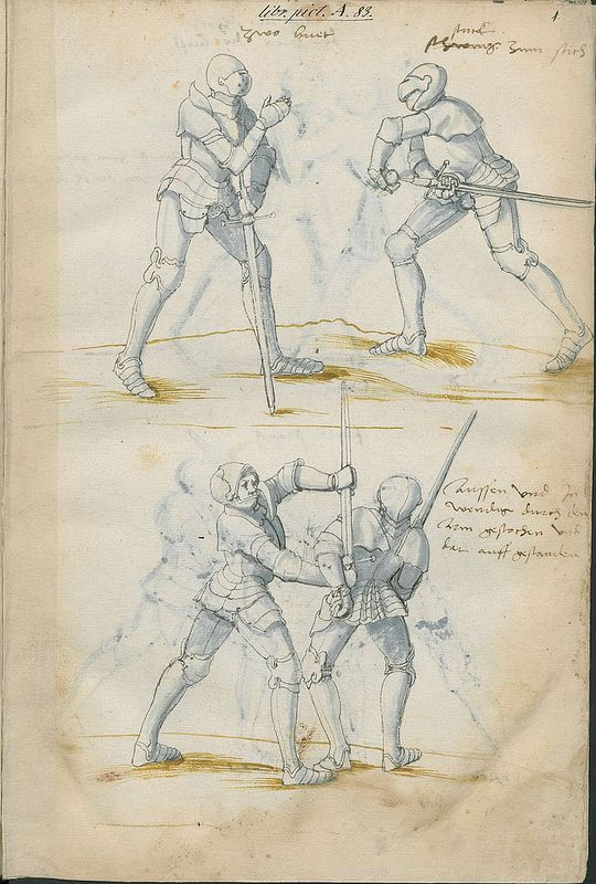Page from a 16th century sword-fighting manual.