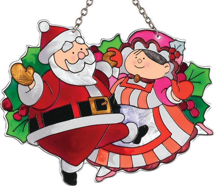 Joan baker santa and mrs claus suncatcher ebay