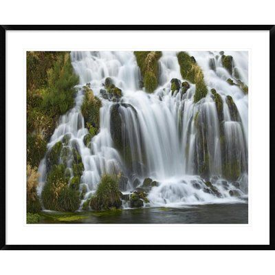 Global Gallery Waterfall, Niagara Springs, Thousand Springs State Park, Idaho by Tim Fitzharris Framed Photographic Print Size: