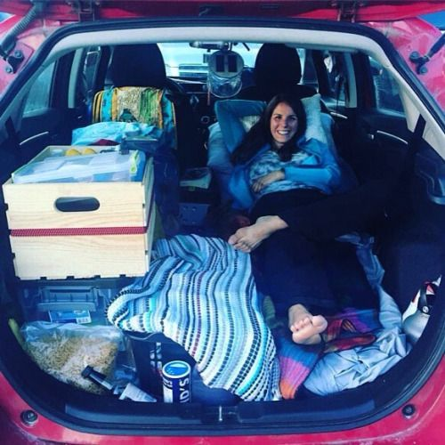 van-crush: #CarCamping at its best. This is a Honda Fit! #VanCrush . . Repost from @Marywangen #vanlife https://www.instagram.com/p/BKeKipyhw4X/