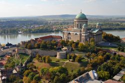 The Basilica at Esztergom in the north of Hungary, the largest in the country.