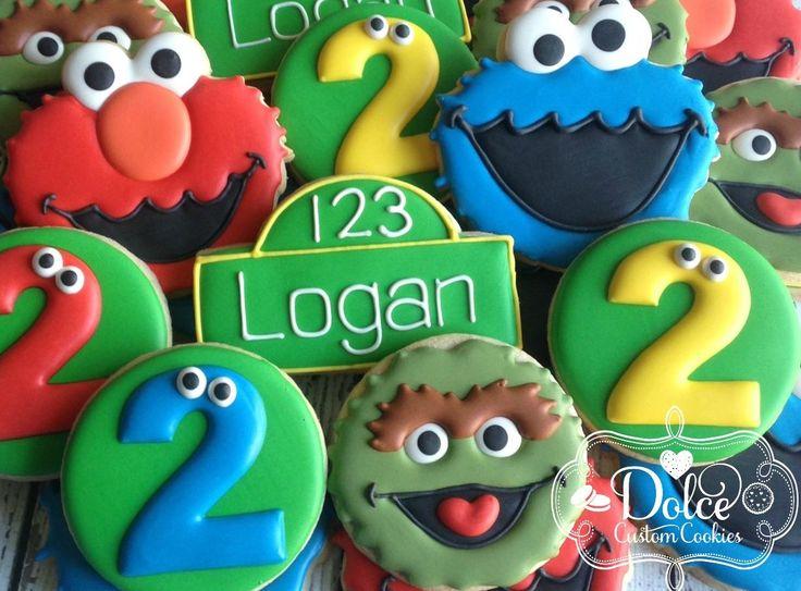 Dolce - Sesame Street Birthday cookies for Logan