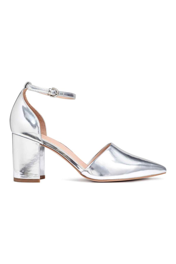 Open-sided court shoes - Silver - Ladies | H&M GB