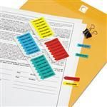 """Redi-Tag 72020 Mini Arrow Page Flags """"""""Sign Here"""""""" Blue/Mint/Red/Yellow 126 Flags/Pack"""