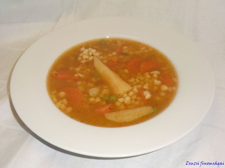 Pirrított tarhonya leves