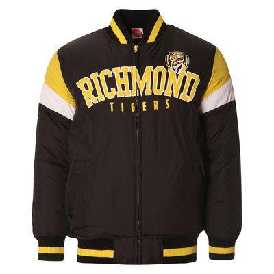 AFL Mens Fan Varsity Jacket Richmond Tigers [Size: S]
