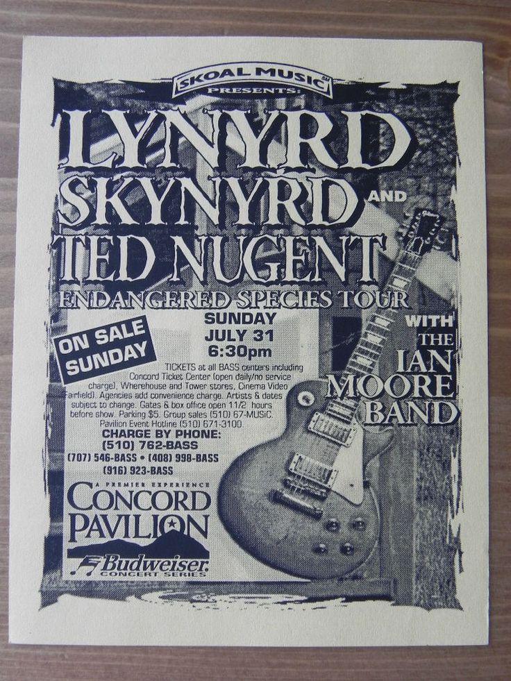 Lynyrd Skynyrd, Ted Nugent, Marshall Tucker Handbill 94