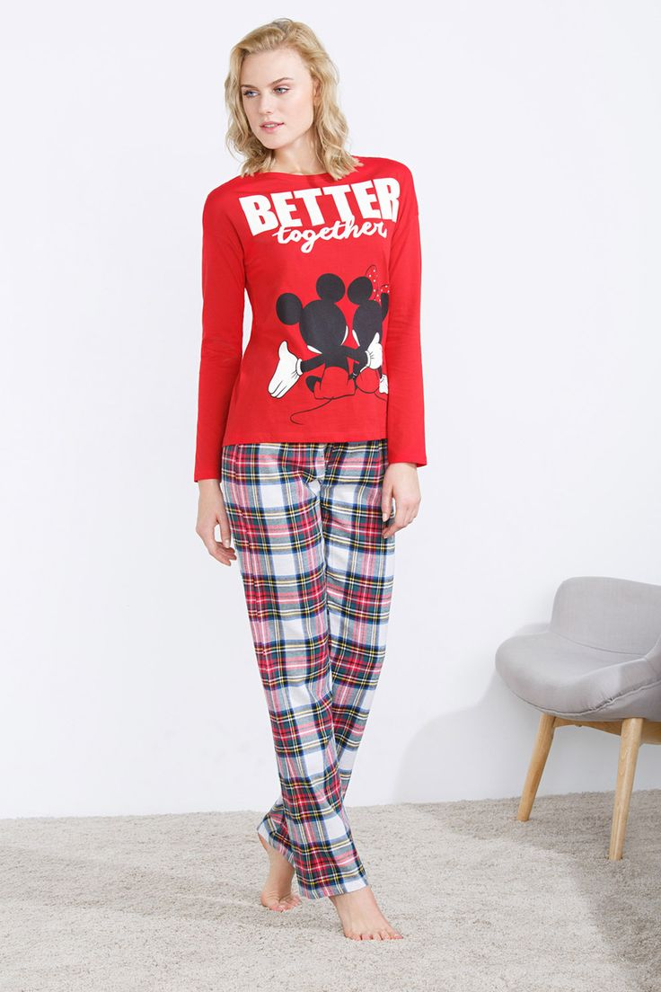 women'secret   compra por precio   ÚLTIMAS TALLAS!   Pijama largo de Mickey y Minnie