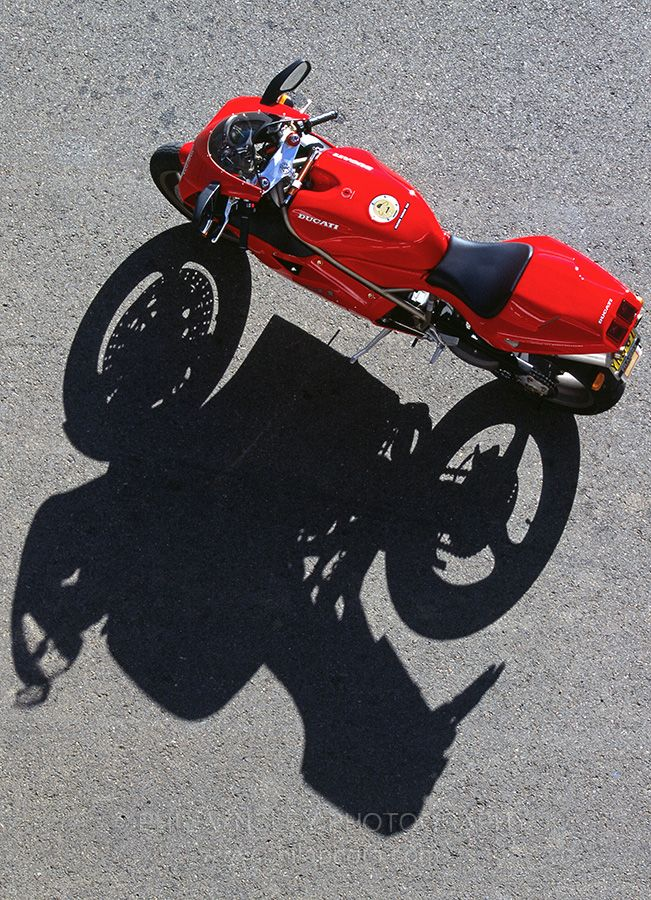 Overhead view of a 1996 model 916 Strada. Photographed at Eastern Creek, NSW. 1996.
