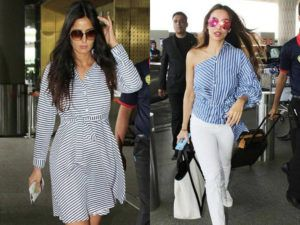 Spotted! Looks like monsoon fashion in Bollywood is all about blues and stripes
