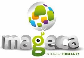 The logo of www.mageca.com  Mageca is the first appstore and news portal around all kind of gesture controlled sensors like the microsoft kinect , the leap motion , the tobii etc.