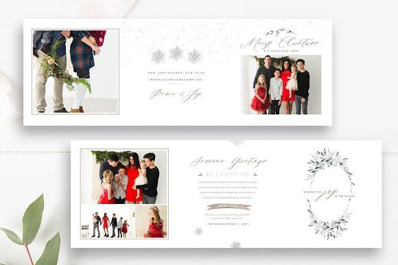 Accordion Christmas Card Template Christmas Card Template Christmas Cards Christmas Card Design