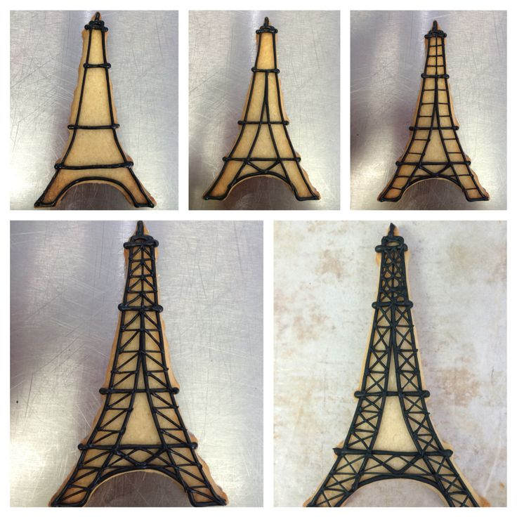 Eiffel Tower Royal icing cookie Pictorial
