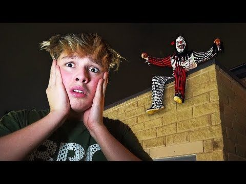 CREEPY CLOWN ATTACKS HOUSE DURING HIDE AND SEEK AT 3AM! - YouTube
