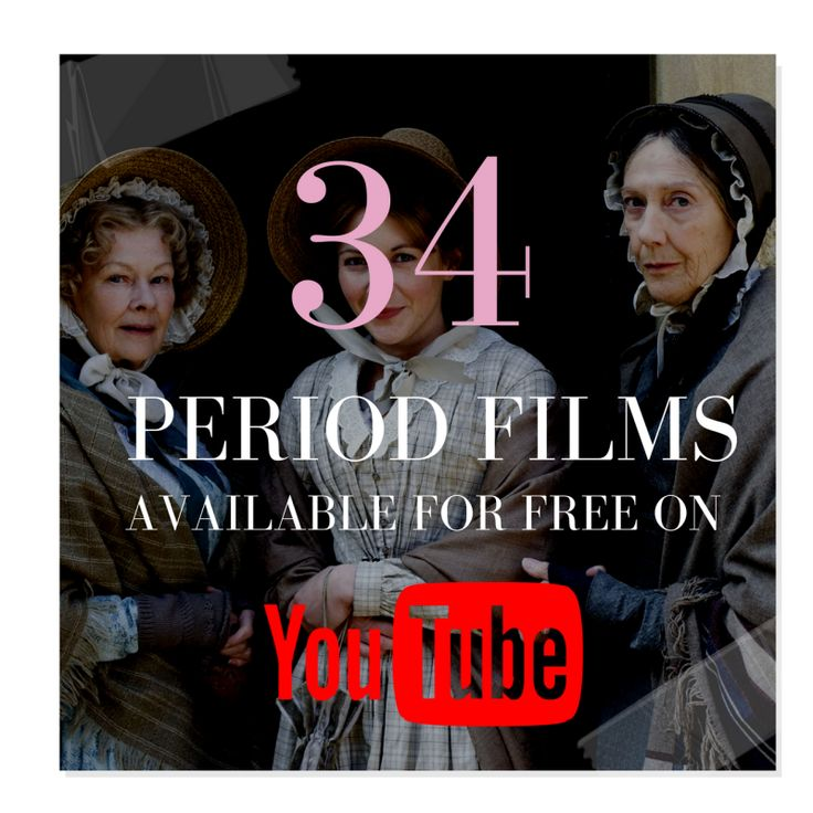 34 Period Films Available For Free On Youtube