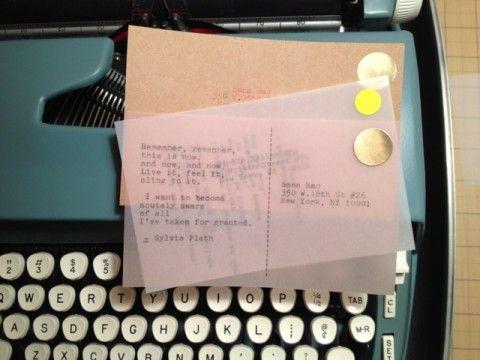 Postcard Poets via Swiss Miss.