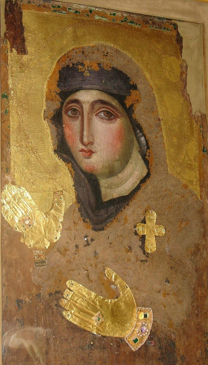 This icon is of the rare Byzantine icon of Agiosoritissa (Mother of God) of the 7th century. It is said to be one of the few Byzantine icons that survived ...