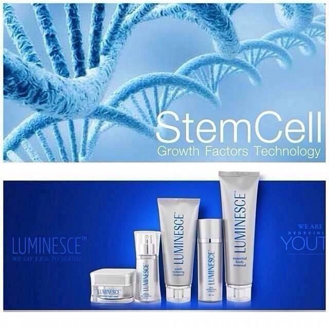 Luminesce super charges the production of skin cells!! Infused with growth factor and complex from adult stem cells.