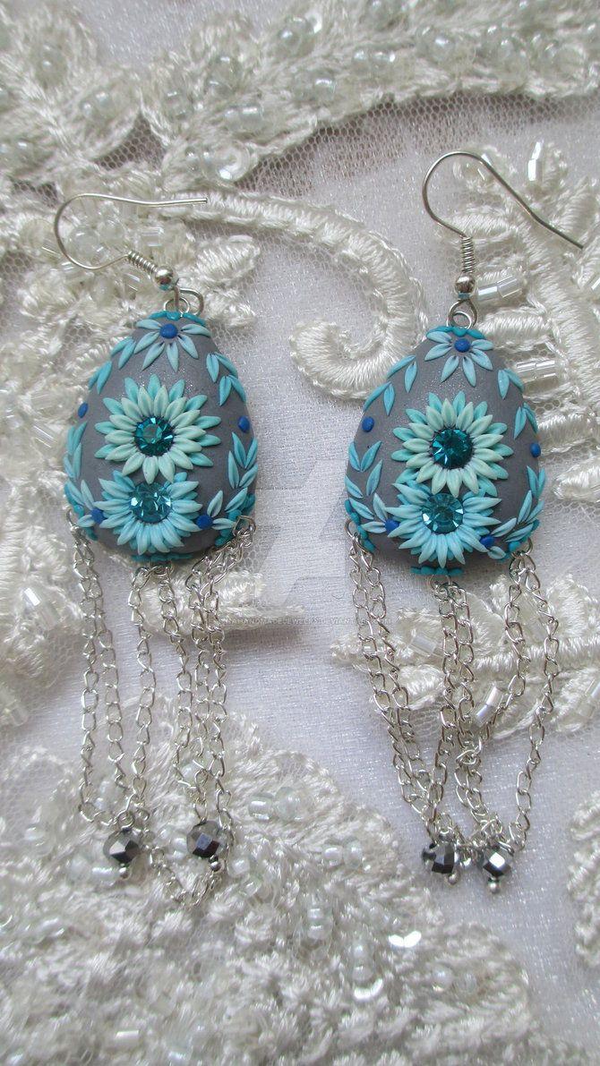 Polymer clay Earrings by LenaHandmadeJewelry