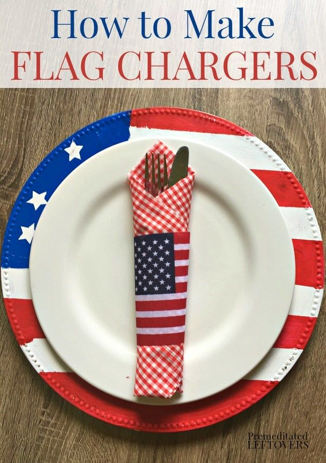 Use This Tutorial For How To Make Flag Chargers To Create A