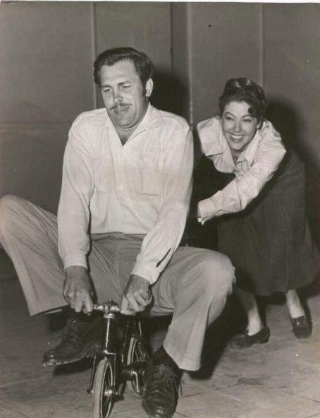 Howard Keel, Ava Gardner on set of Showboat