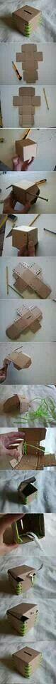 Card board piggy bank