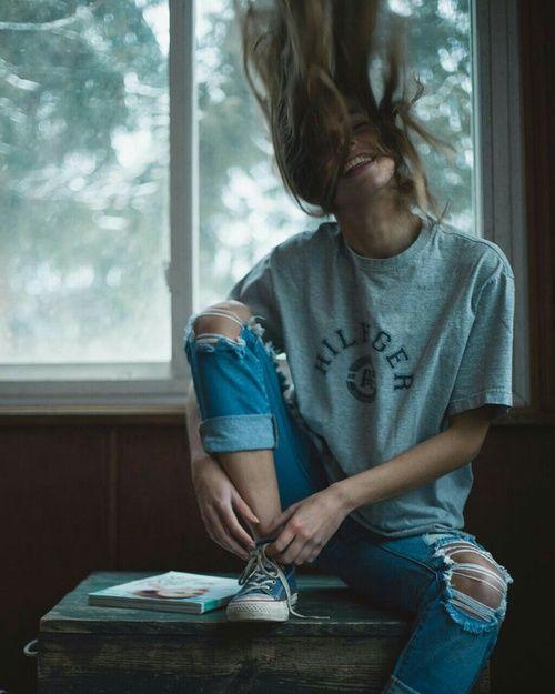 Картинка с тегом «girl, smile, and hair»