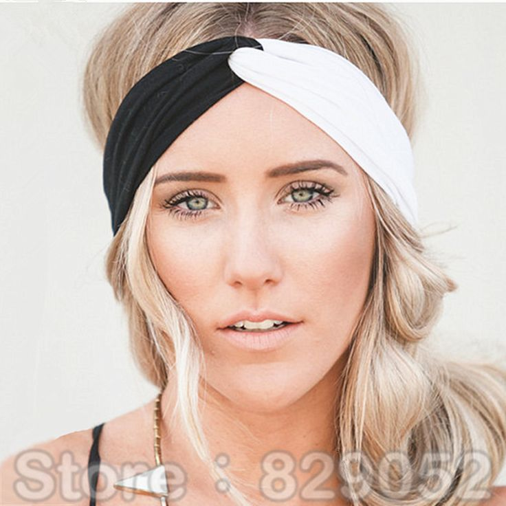 Yoga Patchwork Turban Headbands for Women – Twist Stretch Hairbands
