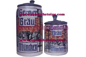 Gerner Bräu (pair) - Munich Brewery Steins