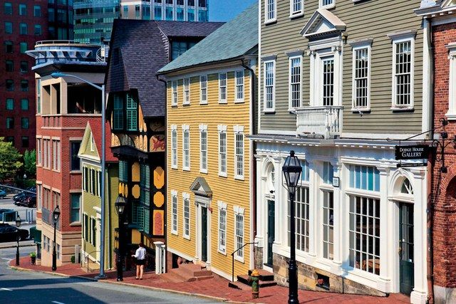 A view of Thomas Street in Providence, Rhode Island's College Hill neighborhood.