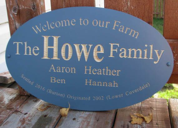 Custom Wood Carved Family Farm Sign Family by RCOriginalsGallery