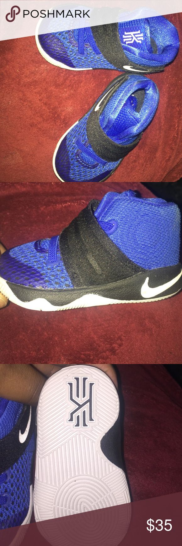 Kyrie's Irving Sneakers They are size 4C my ten month d only wore them a few times. In great condition and non smoking house . Shoes Sneakers