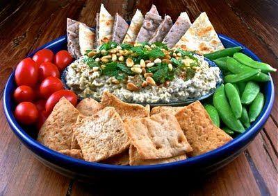 "Nigella Lawson's Eggplant, Mint & Yogurt Dip for ""I Heart Cooking Clubs"""