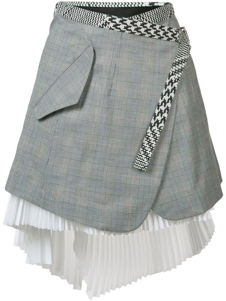Sacai Asymmetric Wrap Skirt - Farfetch