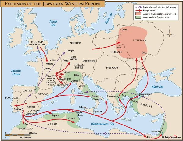 #ExpulsionofJews from Western #Europe #HumanMigration