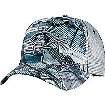 With its cool hybrid antler-fish design, the Men's Antler Angler Cap is the perfect hat for hunting, fishing, or both! Big Game Camo® - Rapids accents the front and bill and embroidered Legendary® branding over the mesh back opening. This fishing hat for men is finished with a vintage style snapback closure for a comfortable, adjustable fit. One size fits most.