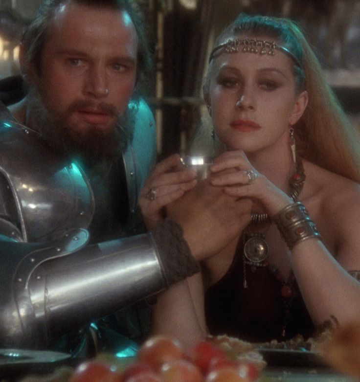 Helen Mirren and Liam Neeson in Excalibur (1981) #excalibur #fantasy #photo